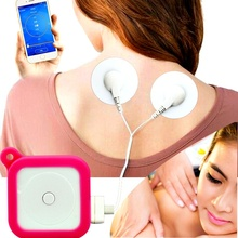 Ebeau Bluetooth Smart Mini Massager Cervical Spine Waist IF Pulse Patch Massage Instrument Mini Phone Therapy Messager(China)