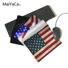 MaiYaCa Unique Design Usa Flag Slim Mouse Pad Pads Speed Up Mice Pad Mat Mousepad Not Overlock Mouse Pad(China)