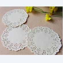 "100 Pcs 3.5""=88 mm White Round Lace Paper Doilies / Doyleys,Vintage Coasters / Placemat Craft Wedding Christmas Table Decoration(China)"