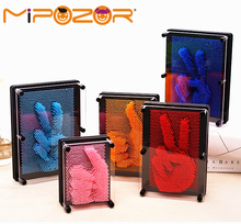 MIPOZOR 2017 New Pinart Carving 3D Clone Hand Model Love Shape Pin Art Pinscreen Needle Painting Funny Game Kids Toys Gifts(China)