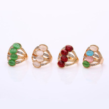 Women's Accessories Jewelry Large Natural Stone Party Rings Female Punk Retro Wedding Rings Boho Vintage Unique Opal Rings Sale