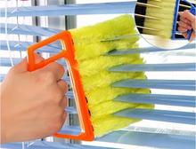 1 pc 7-Blades Shutters Cleaning Brush Window Blinds Brush Air Conditioning Cleaner Shutter Multifunctional Dust Cleaning Brush