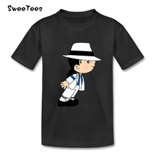 Michael Jackson Boys Girls T Shirt Short Sleeve Cotton O Neck Tshirt children's Teeshirt 2017 Rock N Roll Star T-shirt For Kid