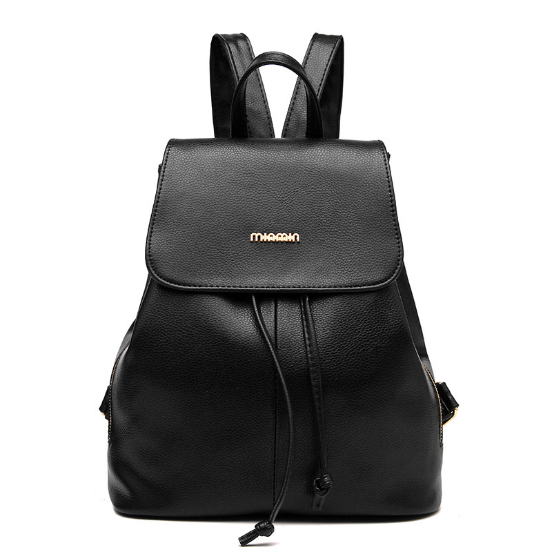 New Travel women school bag Backpack Korean Women Backpack Leisure Student Schoolbag Soft PU Leather Women Bag<br><br>Aliexpress