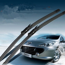 "28""+26"" Soft Rubber Windscreen Wipers Windshield Wiper Blade For Peugeot 307 2000 2001 2002 2003 2004 2005 2006 2007 2008"
