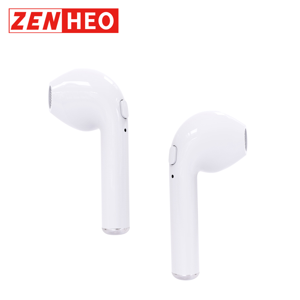 ZENHEO Ear Pods i7 TWS BT Earphones Wireless Cordless 50mAh Battery Headset Mic for iPhone Xiaomi Smart Phone Air(China)
