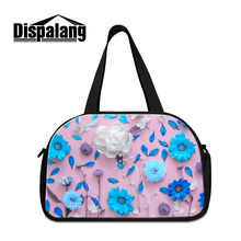 Dispalang floral print business trip travel bags ladies casual luggage duffel bag with shoes unit clothing sorting organize bags