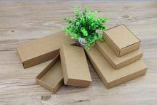10pcs Black/white/kraft Box Gift Blank Packaging Cardboard Boxes with lid, natural craft kraft box