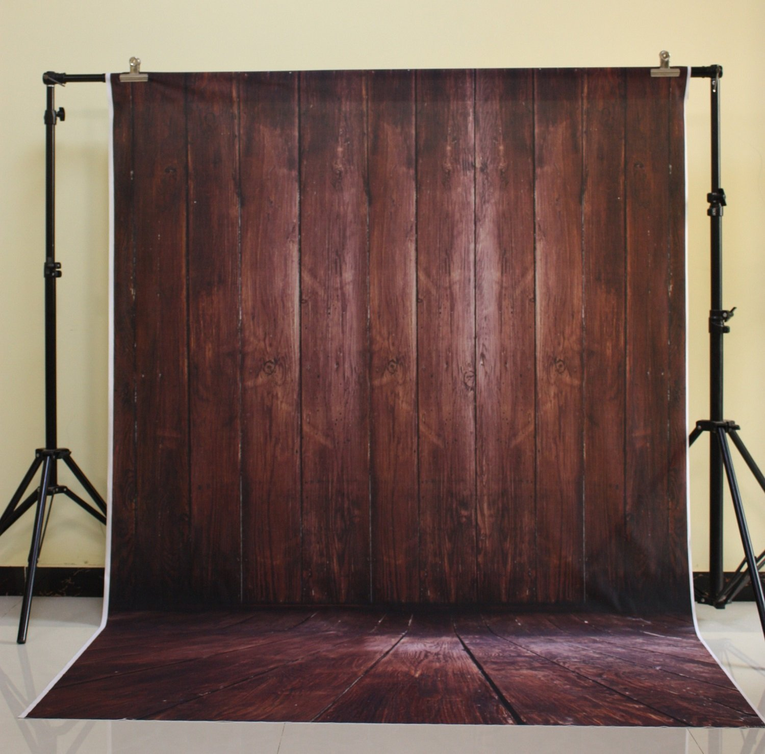 150x220cm Cotton Polyester Dark Deep Color Background Christmas Party Children Photo Dark brown wood wall XT-3639<br>