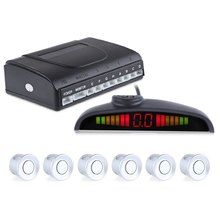LED Display Car Reverse Backup Radar System Voice Sound Warning with 6 Parking Sensors Universal Anti-freeze And Rain Proof