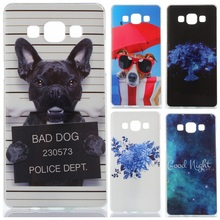 Funny Cartoon Design Case Cover For Samsung Galaxy A5 A5000 SM-A500F Soft Silicone TPU Mobile Phone Cases Silica gel Back Covers