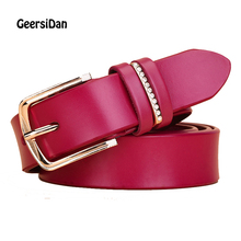Buy GEERSIDAN New Designer Women's Belts Fashion Genuine Leather Brand Strap Female Waistband Pin Buckles Fancy Vintage Jeans for $8.63 in AliExpress store