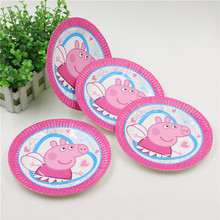10Pcs/lot 7 inch Lovely Paper Plates Little Pig for Valentine Birthday Wedding Nursery Party Tableware Party Supplies