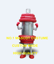 Hot Sale Advertising gym dumbbell mascot costumes Adult Anime Cosplay Fitness Theme Mascotte Fancy Dress Carnival Mascotte1896