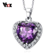 Vnox Vintage Heart of The Ocean Choker Love Necklaces & Pendants Birthday Best Friends Gifts free box(China)