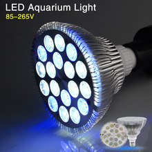 1pcs LED Aquarium Growing Lighting for Tropical Fish Saltwater Fish Coral Reef E27 Grow lights 12White 6Blue Growth led lamp