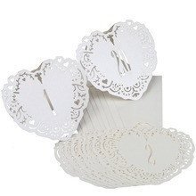 20pcs from 1 to 20 Ivory Hollow Lace Table Number Table Cards Rustic Wedding Centerpieces Decor Vintage Wedding Decoration