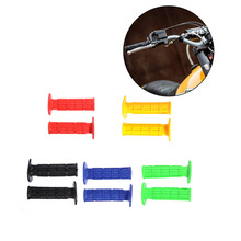 2017 New 1pair Useful Universal Dirt Bike Gel Handle Bar Motorcycle Motocross Hand Grips Black , Red, Yellow , Blue , Green