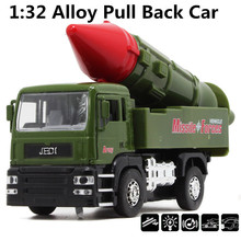 Anti-ship missiles car,1:32 alloy Military trucks,Diecast Metal Military Missile Model,Pull back cars, Alloy car,free shipping(China)