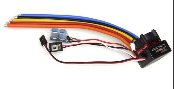 Hobbywing QUICRUN 10BL60 Sensored 60A 2-3S Lipo BEC Speed Controller Brushless ESC for 1/10 1/12 RC Car F17874<br>
