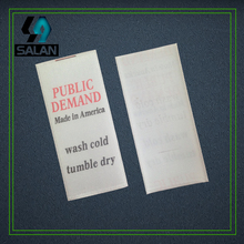 customized two colors logo Selvage ribbon satin care label custom clothing printed silk material washin label fabric sewing tags