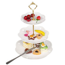 Stainless Steel Cake Stand 2/3 Tier Candy Fruits Cakes Desserts Plate Stands For Wedding Party Cupcake Fruit Plate Stand GB0173(China)