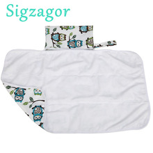 [Sigzagor]1 Baby Diaper Changing Mat Portable Foldable Washable Compact Travel Nappy Waterproof Play Mat 77cmx47cm 13 Designs(China)