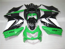 Fairing kit for Kawasaki Ninja fairings 250r 2008 2009- 2014 injection molding EX250 08-14 ZX250 green white black bodywork NZ44