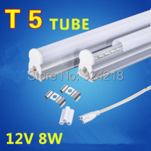 Free shipping 2pcs led tube t5 600mm/60cm 8w 12v led tube light camper DC12v 720-820lm integrated led fluorescent tube