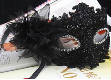 Hot sale 10pc/lot Halloween Venetian mask Masquerade masks Slap-up Venetian party mask equipping flower  B247-1