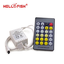 Hello Fish LED strip Controller, 24 keys IR Remote Controller for 5050 Warm White & White Strip(China)