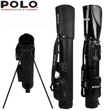 Polo Genuine New Golf Standard Package Waterproof PU Professional Golf Support RackBag Black Ball Gun Bag Brand Men Bag Cover