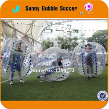 8pcs+2pump 1.5M TPU Large small durable football ground field bubble football inflatable body zorb ball(China)