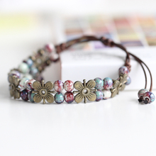 National Wind Restoring Ancient Ways Is The High Temperature Glaze Ceramic Handmade Trinkets Women's Fashion  Bracelets 00957