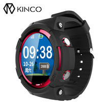 KINCO MTK2503 1.22inch GPS GSM Remote Sedentary Podometer Wristband Sleep Monitor Smart Watch Phone For Elderly for IOS/Android(China)