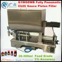 G1WGD500 Fully Pneumatic Semi-automatic Paste and Liquid filling machine,Chilli Sauce Piston Paste Filling Machine (15-150ml)(China)