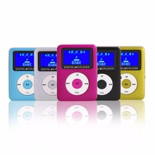 Sports Running MP3 Music Player Mini LCD Screen Digital MP3 Music Player Audio Rechargeable Support TF Card(China)