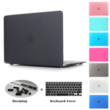 Crystal Clear Matte Rubberized Hard Case Cover for Macbook Pro 13.3 15.4 Pro Retina 12 13 15 inch Macbook Air 11 13 Laptop Shell(China)