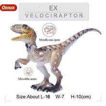 New Design Raptor Velociraptor T-REX Model Dinosaur Mouth Can Open With Movable Arms Jurassic Dinossauro Brinquedo Kid Toy(China)
