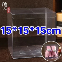 15*15*15cm Macaron Pvc Transparent Candy Box Custom Cake Gift Boxes Small Clear Plastic Container For Food Storage
