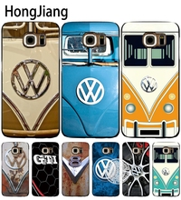 HongJiang VOLKSWAGEN VW Mini Bus cell phone case cover for Samsung Galaxy S7 edge PLUS S8 S6 S5 S4 S3 MINI(China)