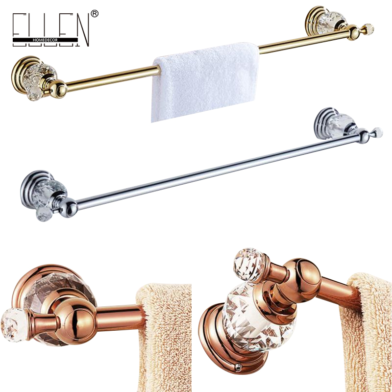 Luxury crystal brass single towel holder towel bar Bathroom Accessories bath hardware EL7024<br>