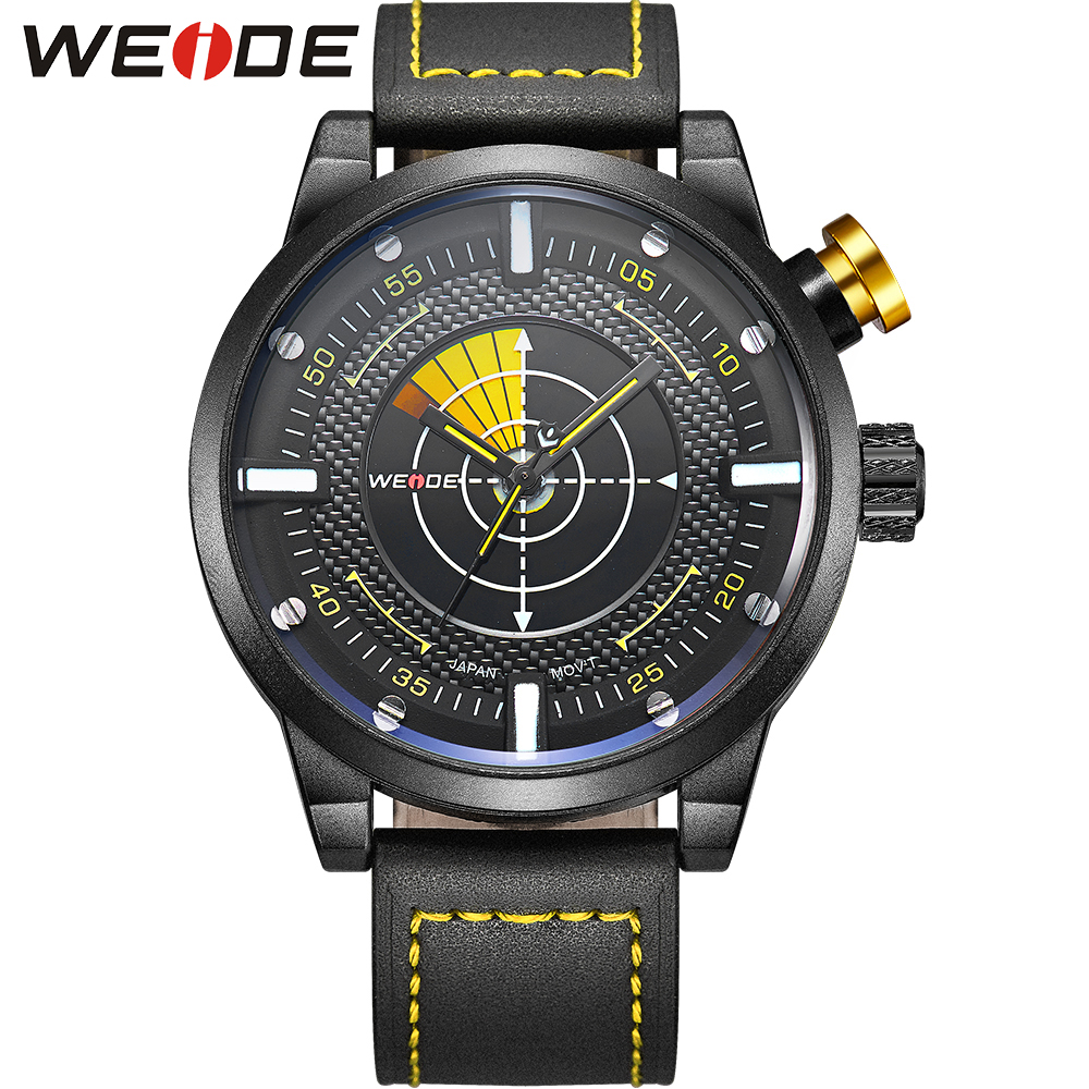 WEIDE Watch Men Sport Water Resistant Mens Quartz Movement Military Leather Strap Watches Casual Watch for Men Gift / WH5201<br>