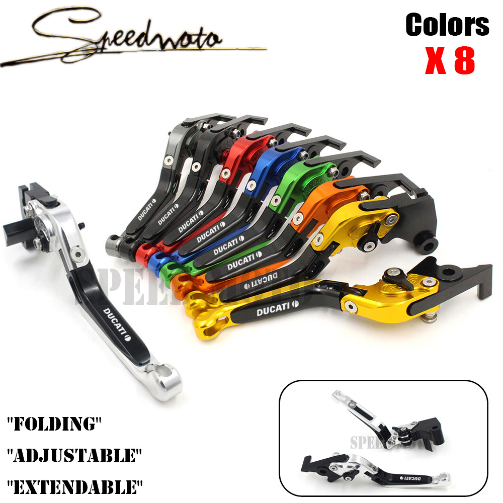 8 Colors CNC Motorcycle Brakes Clutch Levers For DUCATI Monster S4RS 1100S 1100ABS Multistrada 1200 S/ABS 1200S/ABS Accessories<br>
