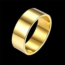 Titanium Steel Series Ring Fashion Trend Ring Female Models Simple Golden Color 14 Rings(China)