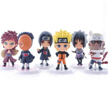 6pcs/lot 7cm Naruto action figure set Q Edition Toy Naruto Japan anime figures Model toy Set Action Toys