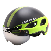 Magnetic Goggle Cycling Helmet Casco Ciclismo Ultralight In-mold Bike Bicycle Helmet With Glasses Road Mountain Helmet 54-62CM(China)