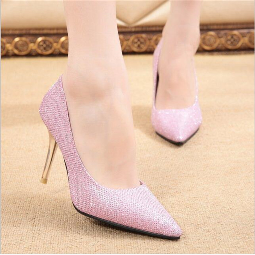 Classic Sexy Pointed Toe Shoes mid 9.5cm High Heels Women Pumps Shoes Spring Brand Wedding Pumps Woman Casual Pumps<br><br>Aliexpress