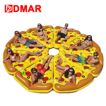 DMAR Inflatable Pizza Giant Pool Float Mattress 180CM 5.9' Swimming Ring Circle Beach Bed Sunbathe Mat Water Party Toys(China)