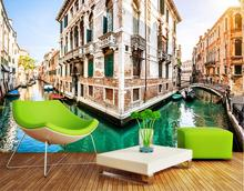 custom 3d stereoscopic wallpapers for wall Venice city canal wallpaper for living room 3D mural bedroom wallpaper